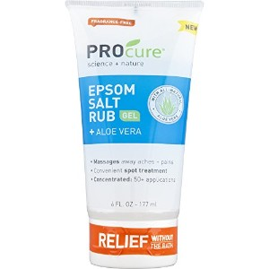 Concentrated Epsom Salt Rub Gel w/ Aloe Vera For Muscle Tension Aches & Pain by Profoot