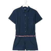 Tommy Hilfiger Junior belted playsuit - ブルー