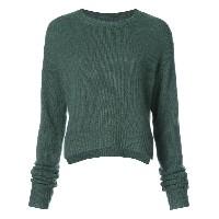 Rta crop cable sweater - グリーン