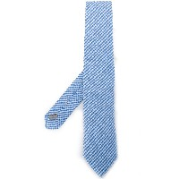 Canali gingham tie - ブルー