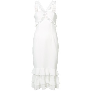 Cinq A Sept frill cross strap dress - ホワイト