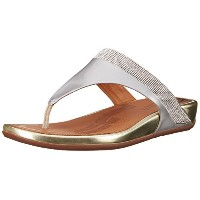 [フィットフロップ] FIT FLOP US5/22CM fitflop BANDA MICRO CRYSTAL TOE POST LEATHER SANDAL 473-308 PALE GOLD...
