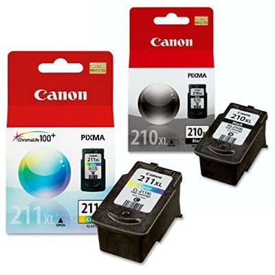 Canon PG - 210 XL and CL - 211 XLインクパックバンドル、互換性をmp495、mp280、mp490 , mp480 , mp270 , mp240、mx420...