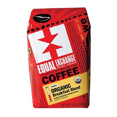Equal Exchange Organic Coffee, Breakfast Blend, Ground, 12-Ounce Bag (Pack of 3) by Equal Exchange