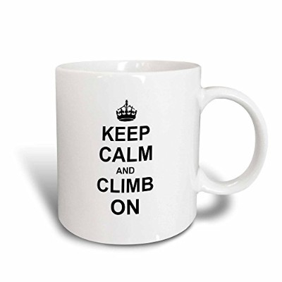 3dローズInspirationzStoreタイポグラフィ–Keep Calm and Climb On–Carry On登山–Gift for Rock Climbers–...