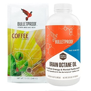 Bulletproof Intro Kit (Amazon Exclusive) 12oz Ground Coffee, 16oz Brain Octane by BulletProof