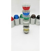 kitchendance使い捨てアルミColored Baking cups- Creme Brulee cups-デザートcups- 4オンスサイズwith Lids Silver w/...