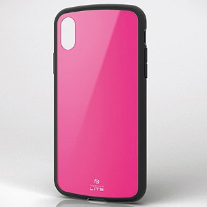 エレコム PM-A17XTSLPN(ピンク) iPhone X用 TOUGH SLIM LITE