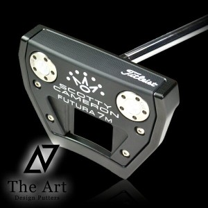 スコッティキャメロン カスタムパター FUTURA 7M The Art Black Finish welded center neck Silver