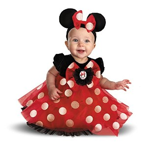 Disney Red Minnie Mouse Infant Costume ディズニーレッドミニーマウスの幼児のコスチューム サイズ:12/18 Months