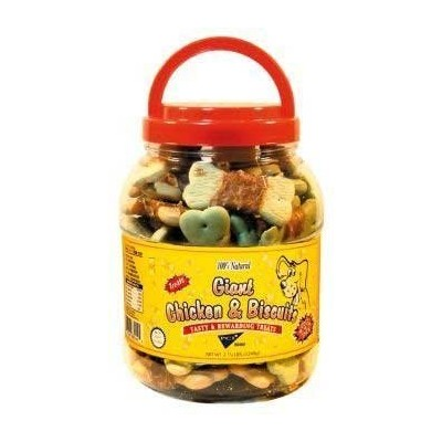 Pet Center DPC88044 44-Ounce Natural Giant Chicken Wrapped Dog Biscuits, Large by Pet Center, Inc.