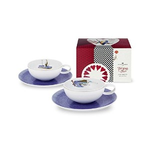 Vista Alegre Porcelain Tea withアリスセット2teacups and saucers and Teaパッケージ
