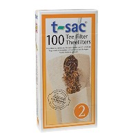 T-Sac Tea Filter Bags, Disposable Tea Infuser, Number 2-Size, 2 to 4-Cup Capacity, Set of 1,000 by...