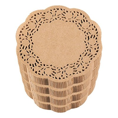 Paper Doilies - Bulk 500-Pack Round Lace Placemats for Cakes, Desserts, Baked Treat Display, Ideal...
