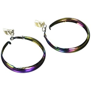 Costume Rainbow Hoop Earrings (並行輸入品)