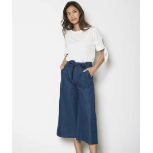【SALE 40%OFF】トミーヒルフィガー TOMMY HILFIGER 2ピースセットアップキュロット (ホワイト)