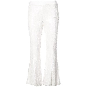 Jeffrey Dodd cropped sequin trousers - ホワイト