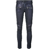 Barbara Bui leather motorbike trousers - ブルー