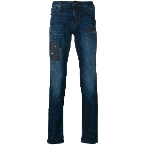 Emporio Armani slight bootcut washed jeans - ブルー