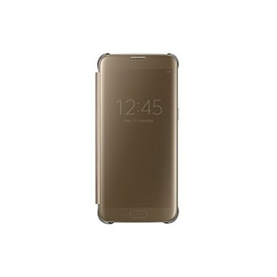 Samsung 純正品 Galaxy S7 edge Clear View Flip Cover (クリアービューカバー) - Clear Gold/ゴールド 並行輸入品