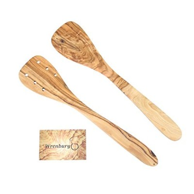 Wrenbury Set of 2 Olive Wood Spatulas