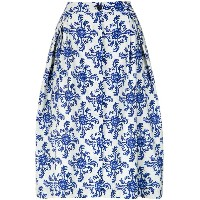 Andrea Marques tile print A-line skirt - Unavailable