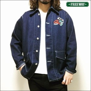 DENIM COVERALL -ENJOY FREEWAY- /デニムカバーオール