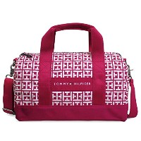 TOMMY HILFIGER(トミーヒルフィガー) ミニボストンバッグ 『MINI DUFFLE』6930060-653 (RASPBERRY/WHITE) [並行輸入品]
