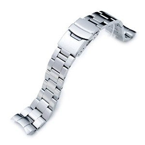 22 mmスーパーオイスター316lステンレススチールWatch Band for Orient Mako II & Ray II、Diver Clasp Brushed