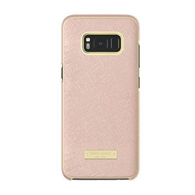 kate spade new york Wrap Case for Samsung Galaxy S8 - Saffiano Rose Gold [並行輸入品]
