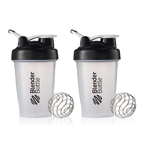 BlenderBottle Classic Loop Top Shaker Cup, 20-Ounce, Black/Clear by Blender Bottle