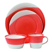 Royal Doulton 18154Piece Place Setting、レッド