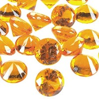 Acrylic Gemstone Diamond Confetti Table Scatter, 3/4-inch, 240-piece (Orange) by Party Spin
