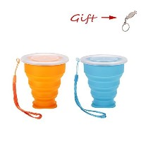 CollapsibleシリコンDrinking Cup for旅行–The多目的マグ/ボウルfor People on the Move。Ideal For旅行、キャンプ、ハイキング&通勤to...