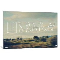 iCanvasART lfs14Let 's Run Away by Leah Floresキャンバス印刷、18by 12-inch、1.5インチDeep