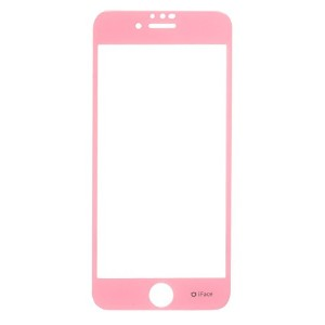 iFace iPhone8 / 7 / 6s /6 ガラスフィルム 液晶保護シート / ベビーピンク