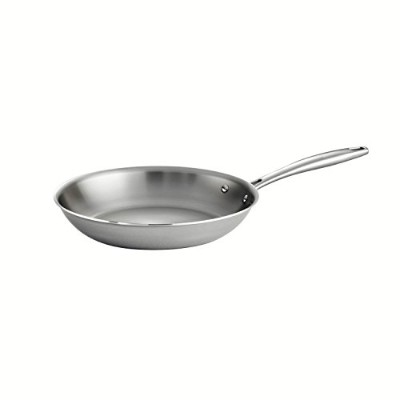 Tramontina 80116/005DS Gourmet 18/10 Stainless Steel Induction-Ready Tri-Ply Clad Fry Pan, 10-Inch,...