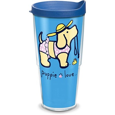 Tervis 24オンスビキニPuppie Love Tumbler with Lid 24オンスタンブラーブルー