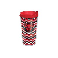 Tervis Ark状態大学Chevron Wrap Tumbler withレッド蓋、16オンス、クリア