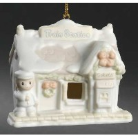 Precious Moments Sugar Town Train Station Ornament 184101 [並行輸入品]