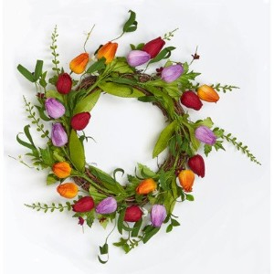 "Worth Imports 19 ""チューリップLeaf Twig Wreath"