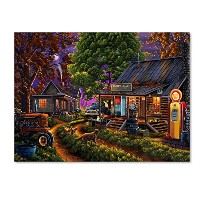 Sleepy Hollow General Store by Geno Peoples、18x 24インチキャンバス壁アート