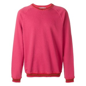 Common Wild classic long-sleeve sweater - ピンク&パープル