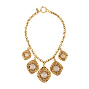 Chanel Vintage diamond design necklace - メタリック