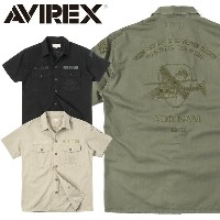 AVIREX アビレックス 6185104 S/S EMBROIDERED BDU シャツ 父の日 ギフト プレゼント