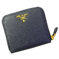 プラダ PRADA 折財布 1ML522 SAFFIANO METAL ORO BALTICO ネイビーー メンズ