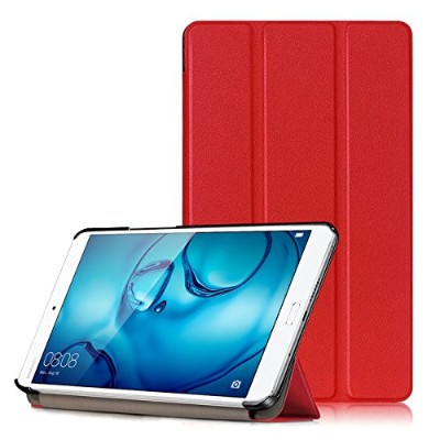 MS factory docomo dtab Compact d-01J/HUAWEI MediaPad M3 8.4インチ ケース 3点セット 【保護フィルム+クリーニングクロス】 付 三つ折...