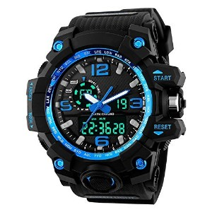 Fngeen Men's Large Dual Dial Analog Digital Quartz lectronic Sport Watch 164FT 50M Water Resistant...