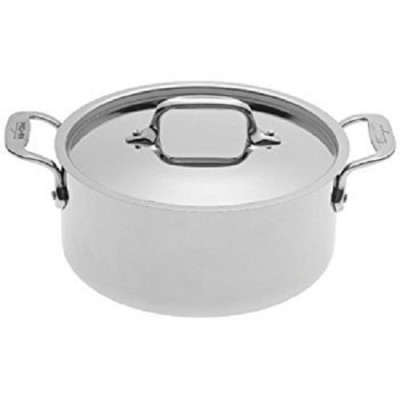 All-Clad 4303 Stainless Steel Tri-Ply Bonded Dishwasher Safe Casserole with Lid Cookware, 3-Quart,...