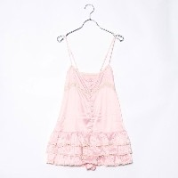 【SALE 84%OFF】ルーミィーズ Roomy's OUTLET ペプラムキャミコンビネゾン (ピンク)